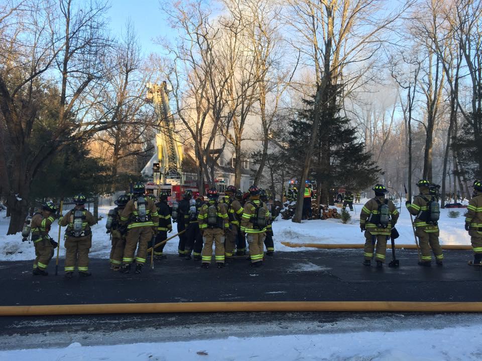 Ten Fire Companies Fight Fire on Coltwald Lane in Hopewell Twp