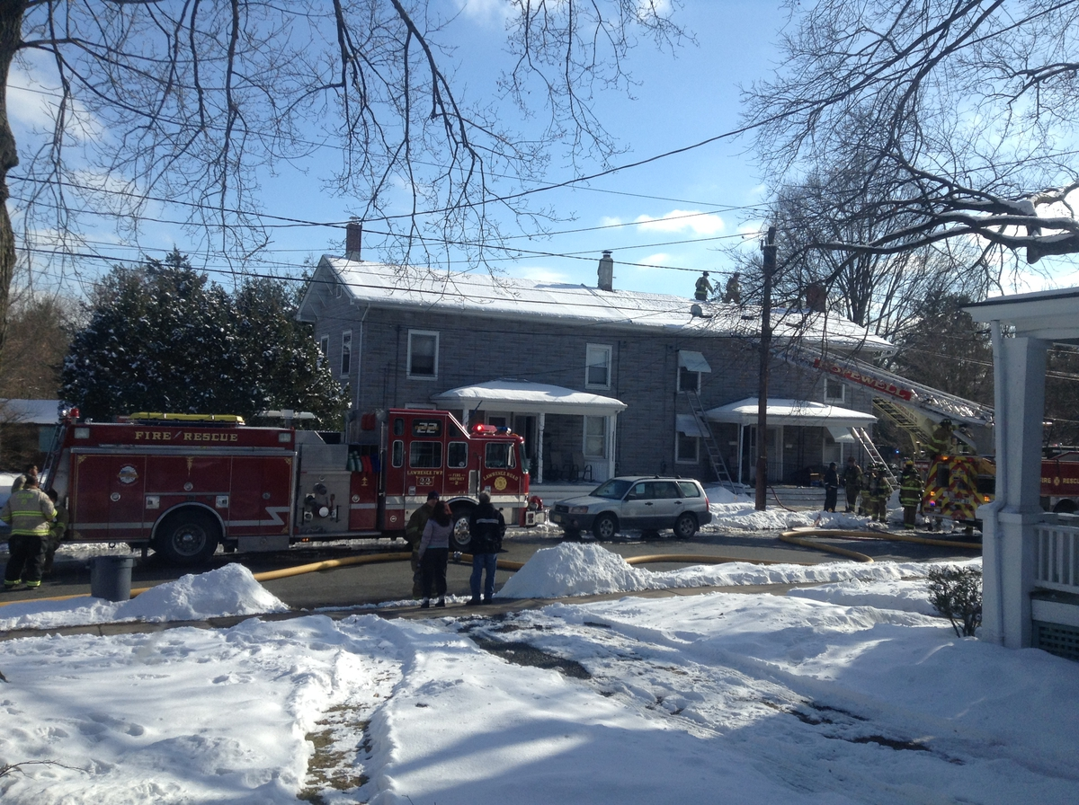 Fire Damage to Hopewell Boro Homes on Model Ave