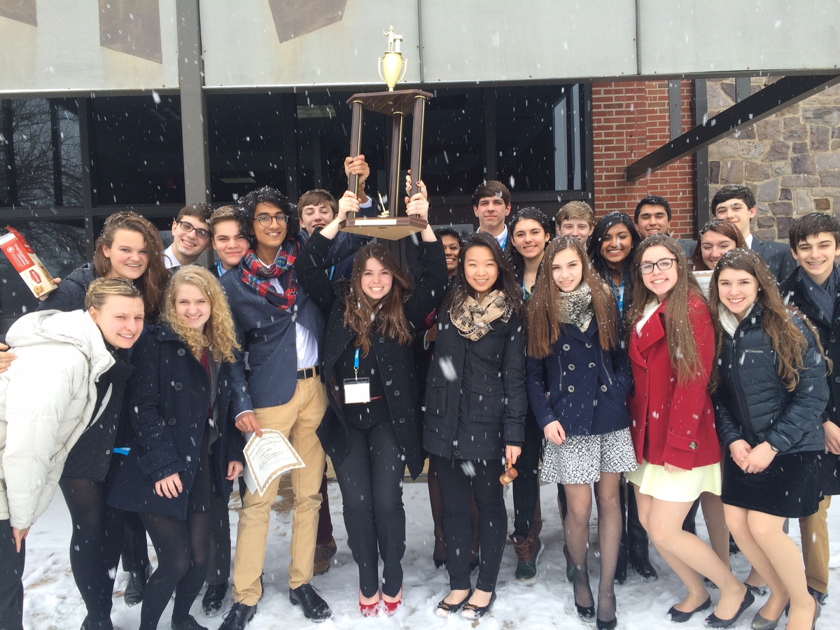Hopewell Valley Central High School Model UN Takes First Place in Philadelphia