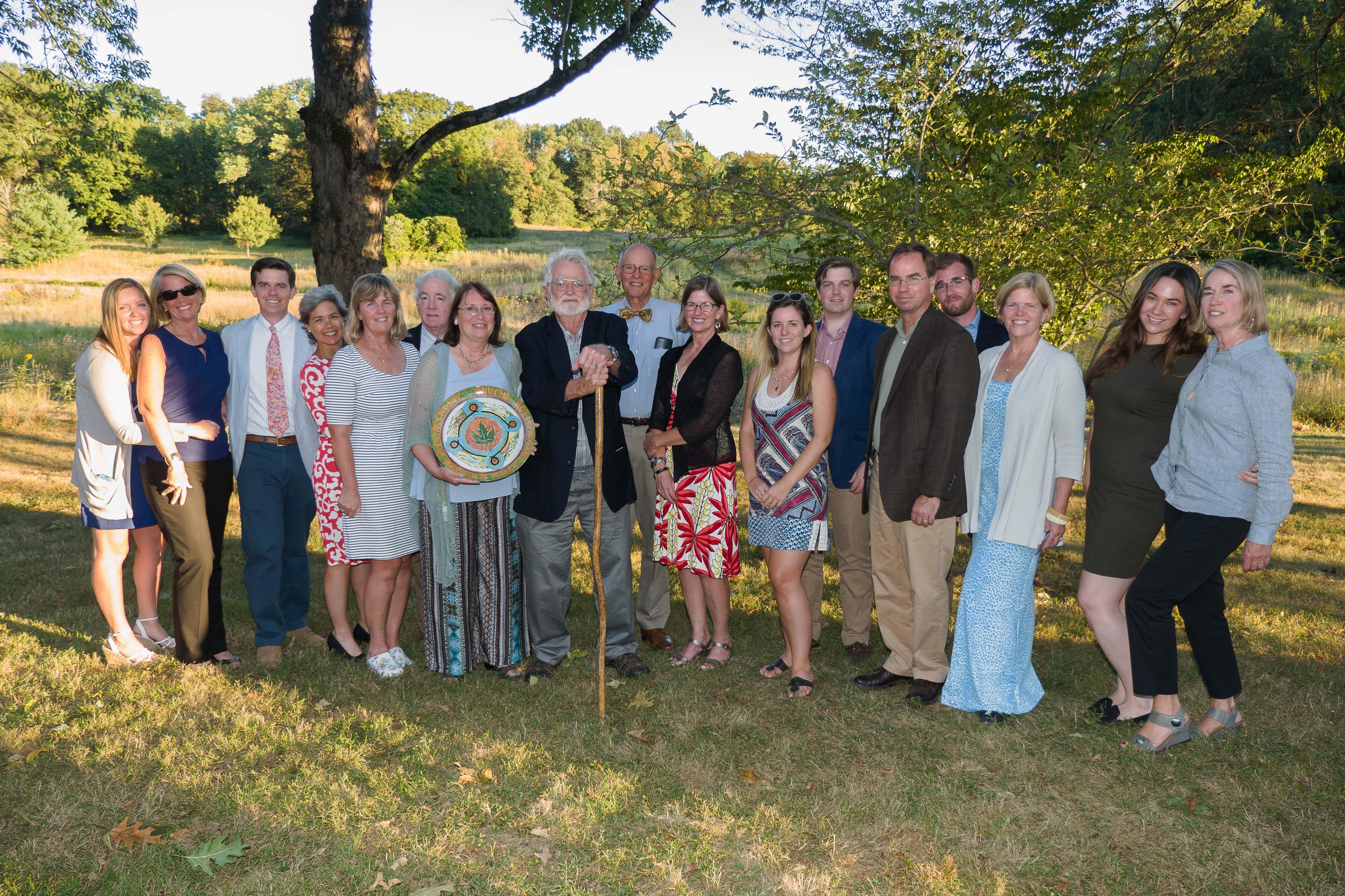 (Carl Geisler) Linda Mead, David Blair and family with award