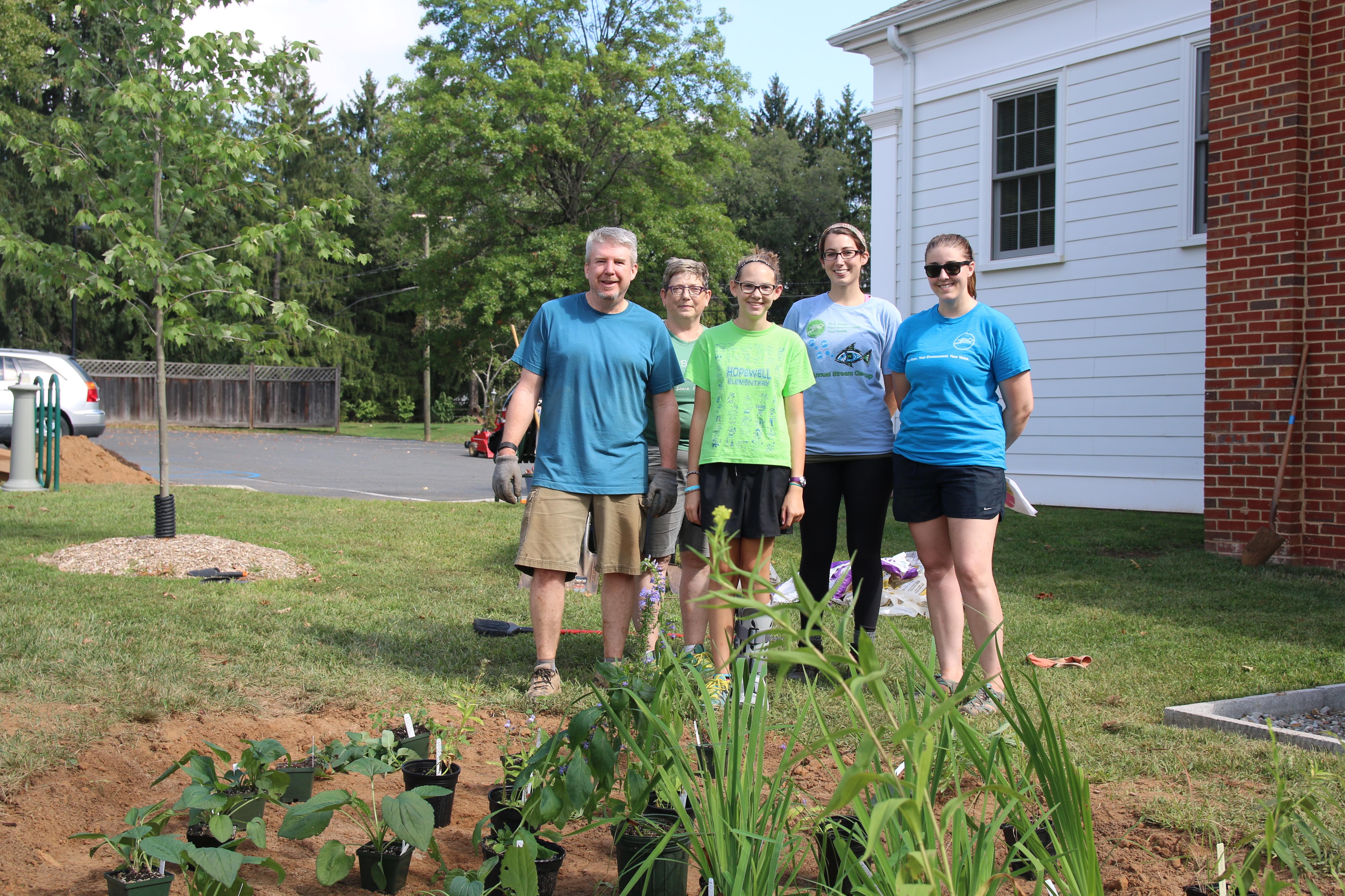 Girl Scout Plants Rain Garden in Hopewell Borough