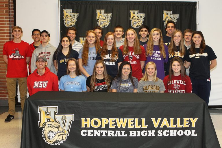 Student Athletes at Hopewell Valley Central High Participate in National Signing Day