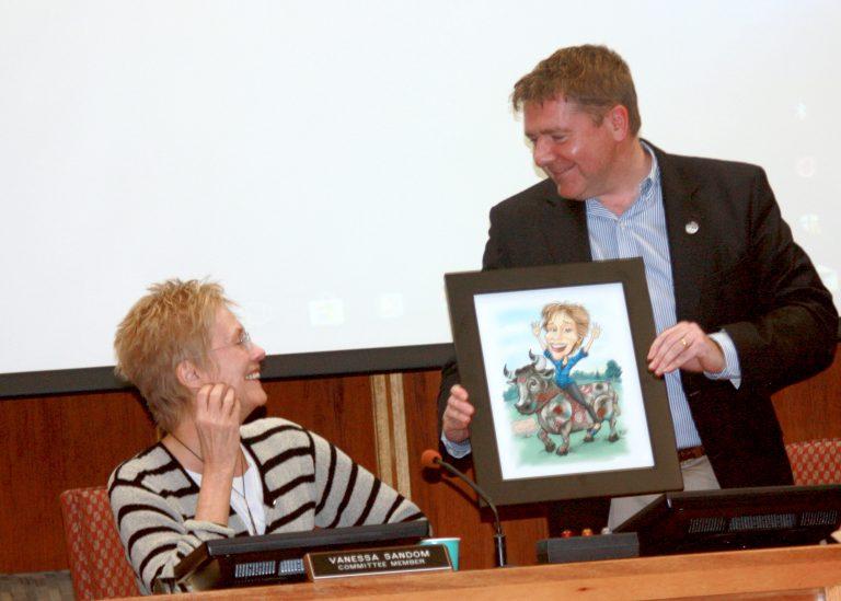 Vanessa Sandom and Paul Pogorzelski Celebrated by Hopewell Township