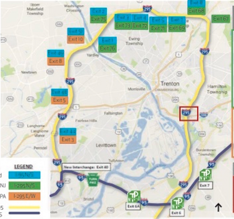Multiple Lanes to Be Closed Overnight Near Interchange with I-295