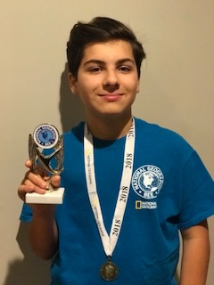 Timberlane Middle School Student Named NJ National Geographic State Bee Semifinalist for Second Year