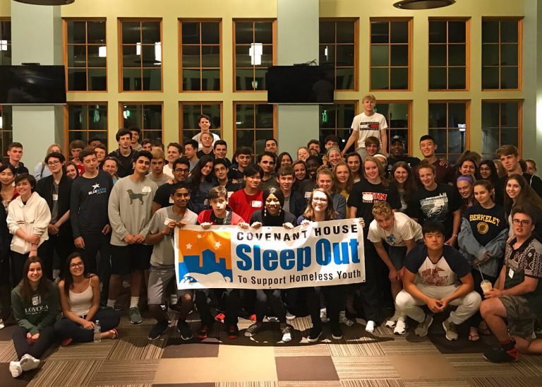 Hun Students Sleep Out and Raise Over $9500 for Homeless Youth
