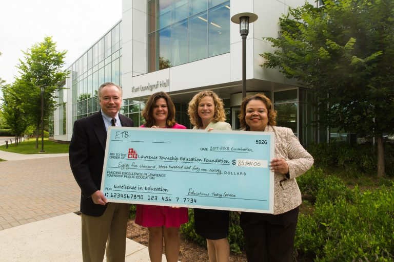 Latest ETS Donation to Lawrence Township Education Foundation Raises Total to 2.7 Million