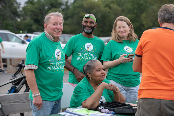 Hundreds Cycle in Lawrence Hopewell Trail's 5th Annual Full Moon Ride