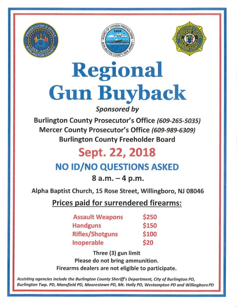 Regional Gun Buyback to be Held September 22