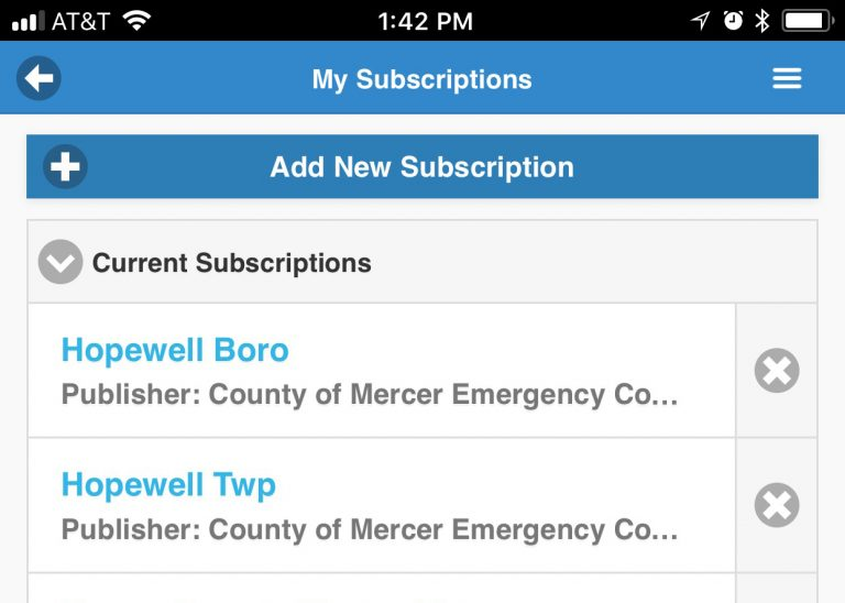 Hopewell Township Police Announces New Emergency Notification System