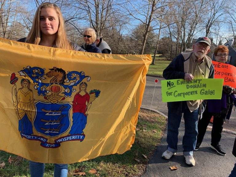 PennEast Pipeline Opponents Protest Eminent Domain in Pennington