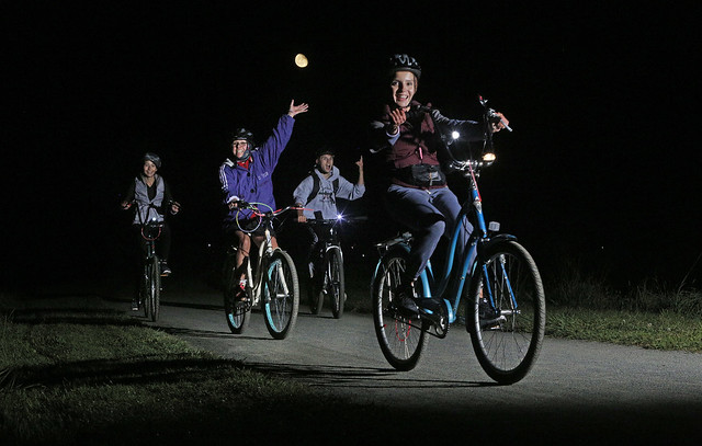 Lawrence Hopewell Trail to Host 6th Full Moon Bike Ride
