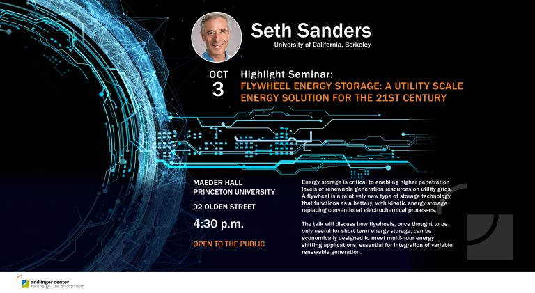 Highlight Seminar: Flywheel Energy Storage: A Utility Scale Energy Solution for the 21st Century