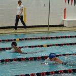 Emilie Sawicki tight breast stroke race