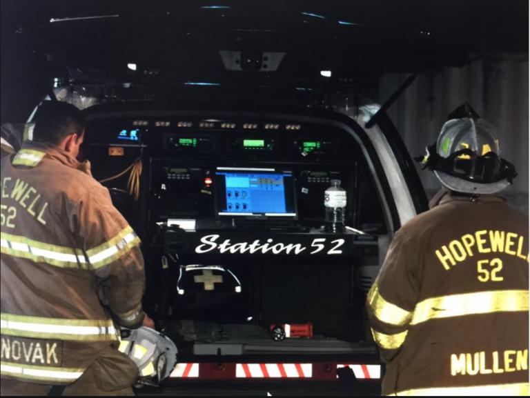 Past Fire Chief Joseph Novak Passes Torch to Chief William Mullen