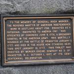 princeton battlefield plaque