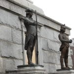 statue at battle monument