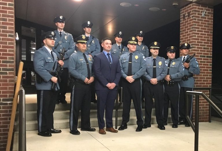 Township Committee swears in new patrol officer, discusses budget and energy