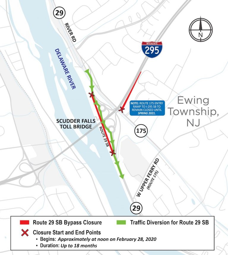 Travel Advisory – NJ Route 29 Southbound possible delays Monday, March 2