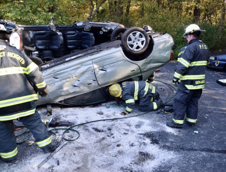 Local fire companies participate in vehicle extrication training