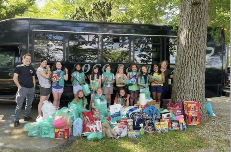 Area girl scouts donate, help save dog rescue