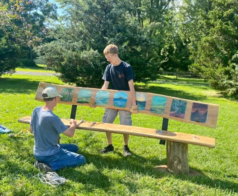Local Boy Scout beautifies park