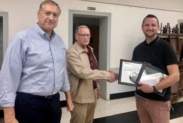 Union Fire Company and Rescue Squad receives service award
